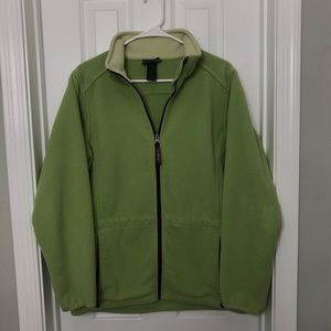 LL Bean Lime Green Zip Up Sweatshirt